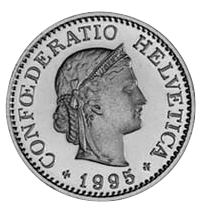 Ten centimes coin – Confœderatio Helvetica 1995 – © Wikipedia Commons