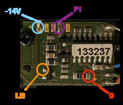 Points de connection sur le décodeur 133237