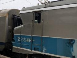 Vue d'une locomotive BB 22200 (nez cassé)