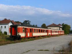 Wagons «Schlieren» dans la gare Marchegg