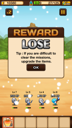 Tip: if you are difficult to clear the missions, upgrade the items
