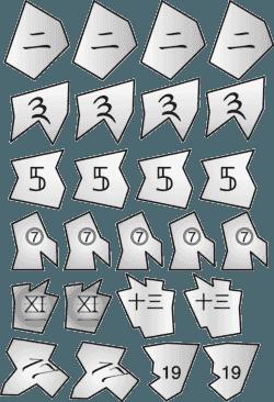 Planche de Gartehäglis: 2, 3, 5, 7, 11, 13, 17, 19