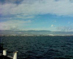 Le Lac Léman vu d'Hermance