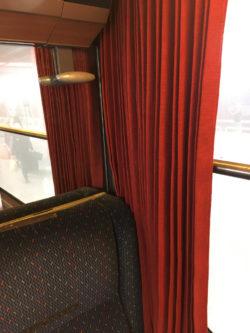 Vue intérieure d'un wagon Corail / TER 1ère classe (2018)