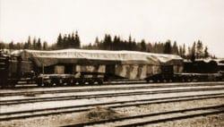 Canon Ferroviaire Krupp K5 bâché