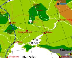 Carte Europe de l'Est du Monde de Tigres Volants