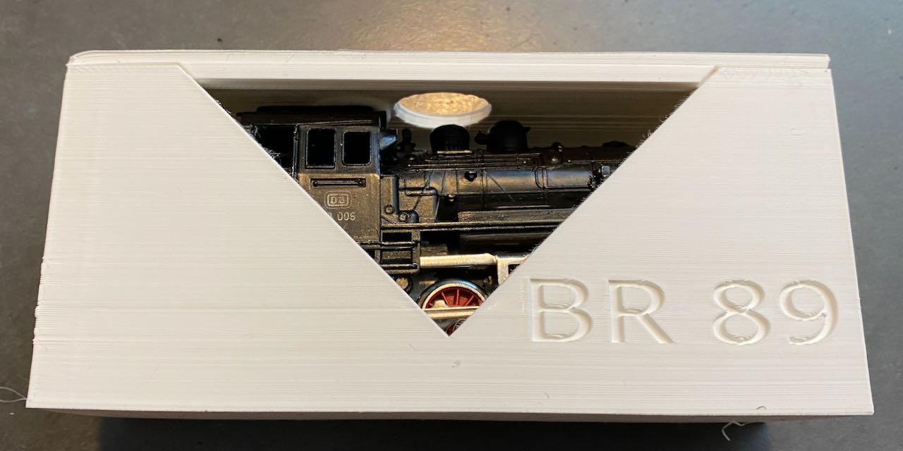 Locomotive Märklin BR89 dans sa boîte