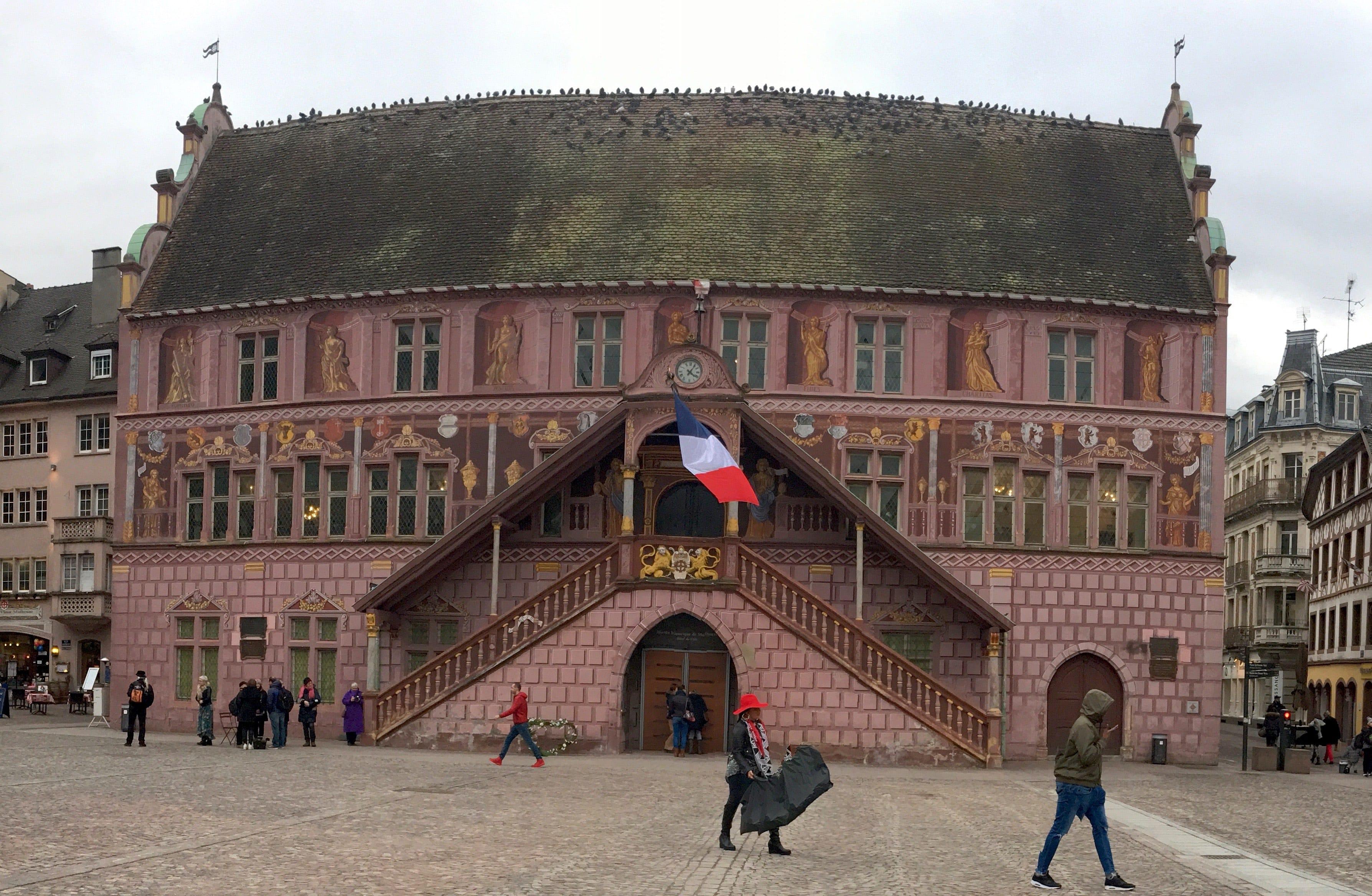 Vue de l'hôtel de l'ancien hôtel de ville de Mulhouse
