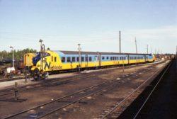 Un train diesel Northlander Diesel au dépot de Ontario