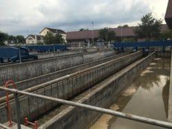 Bassins de décantage de la centrale de traitement des eaux de Werdehölzli