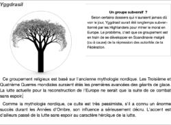 Logo Fractal du Groupe Yggdrasil et text mis en page concernant ce groupe