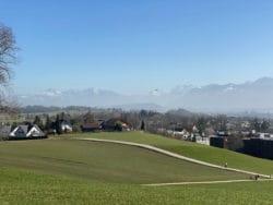 Les Alpes, vues depuis Hombrechtikon