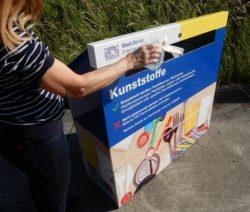 Point de collecte du plastique