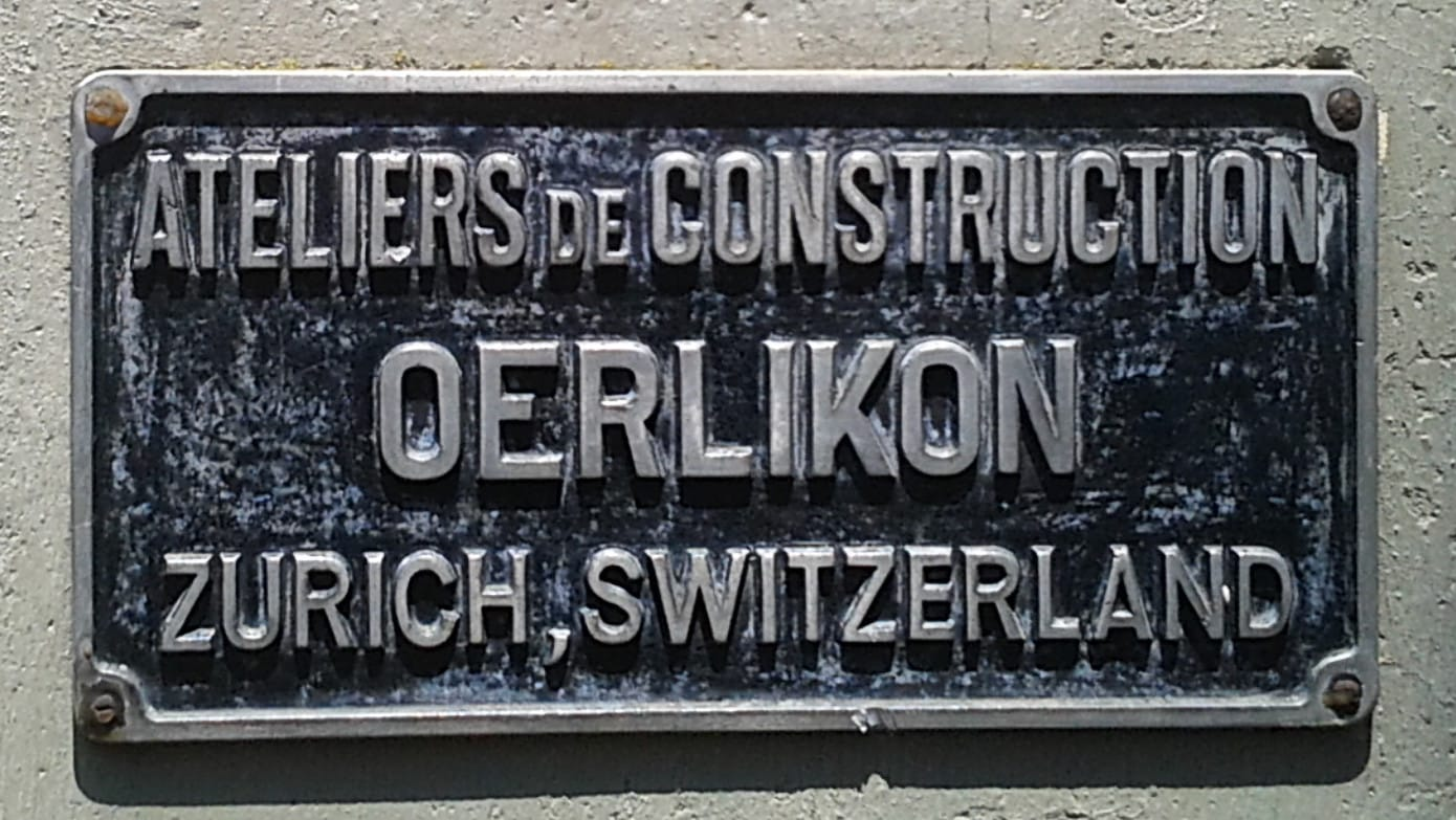 Ateliers de Construction Oerlikon Zürich Switzerland