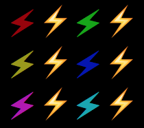 Bolt character with both ANSI color and Unicode variation selector