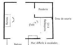 Plan de la Chambre pour le Scénario Rêve de Dragon «Sur le Bord de l'Aile»