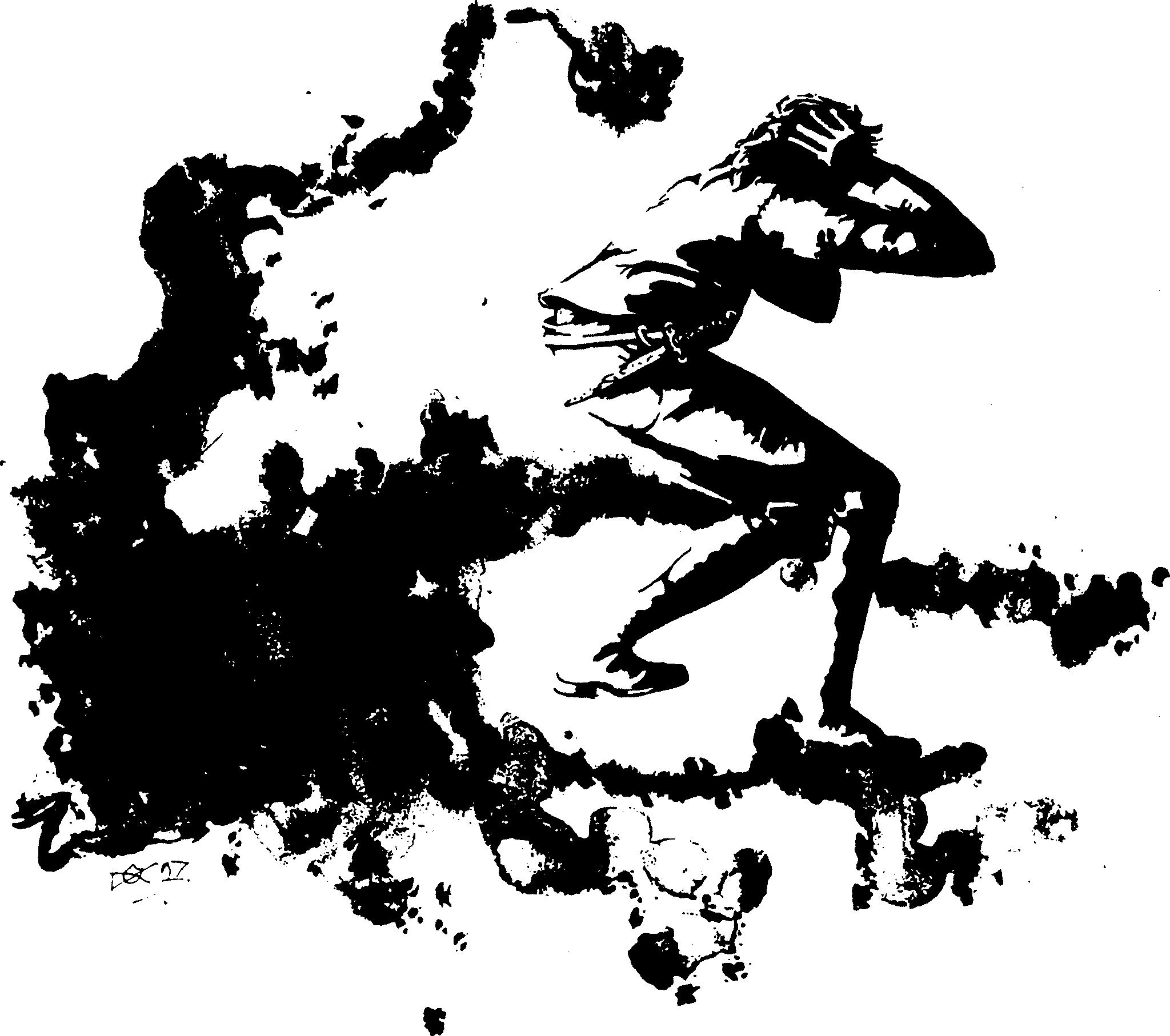Un personnage poursuivi par une brume maléfique