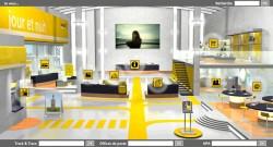 Bureau Virtuel de la Poste - Écran d'entrée