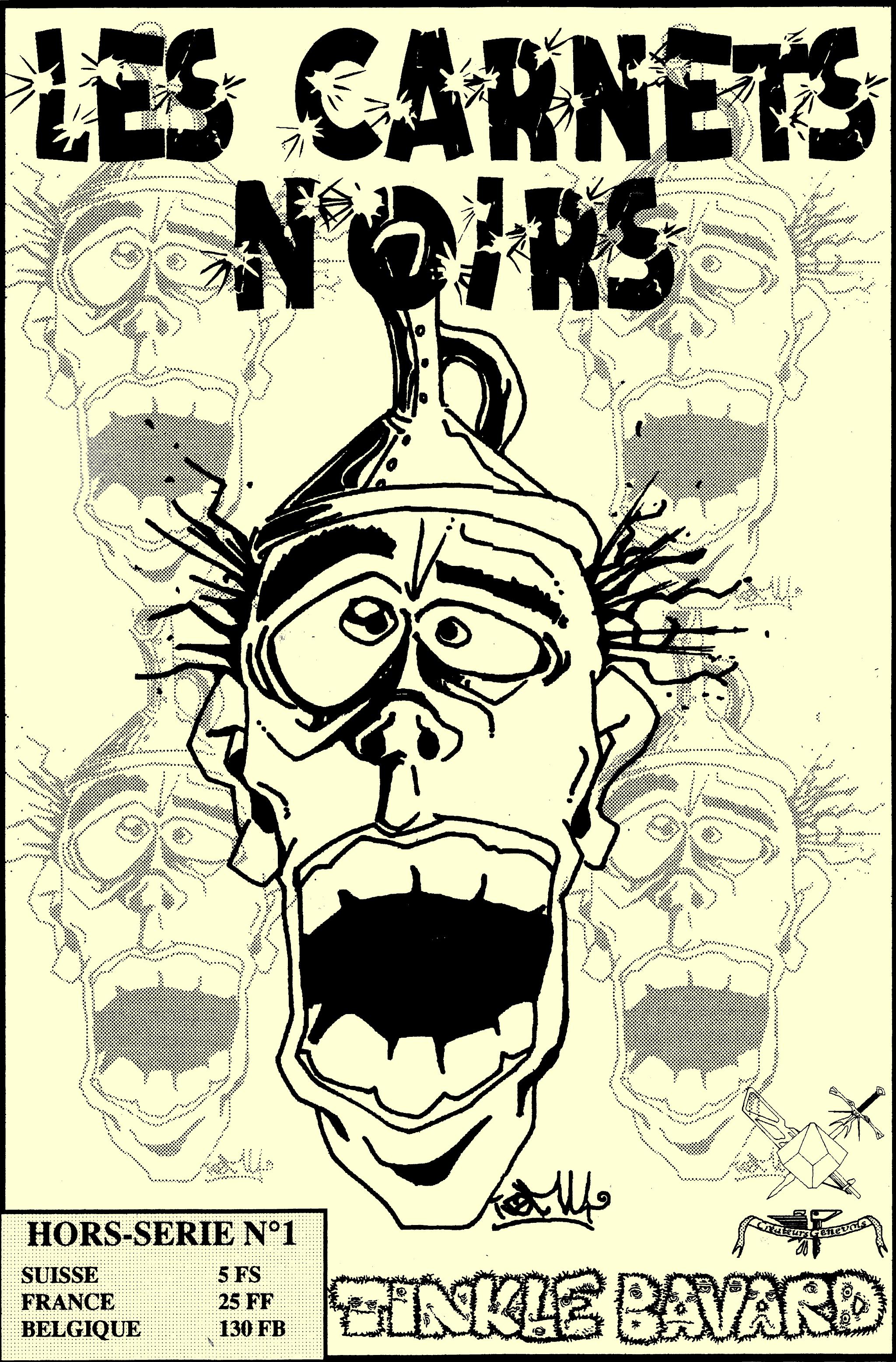 Un visage fou avec un entonnoir sur la tête
