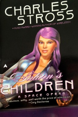 A woman with purple hair, a collar written Freya and a sexy outfit holding a purple glowing ball