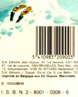 """Barcode area of the album """"Gare aux Gaffes du Gars Gonflé"""""""