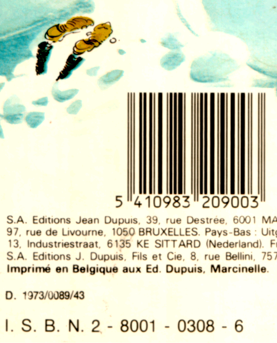 "Barcode area of the album ""Gare aux Gaffes du Gars Gonflé"""