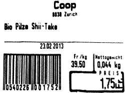 Coop – Code Bare pour des Champignons Shitake
