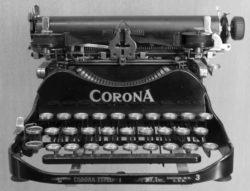 Machine à Écrire Corona