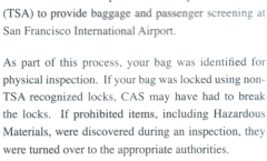 Unlocked luggage…