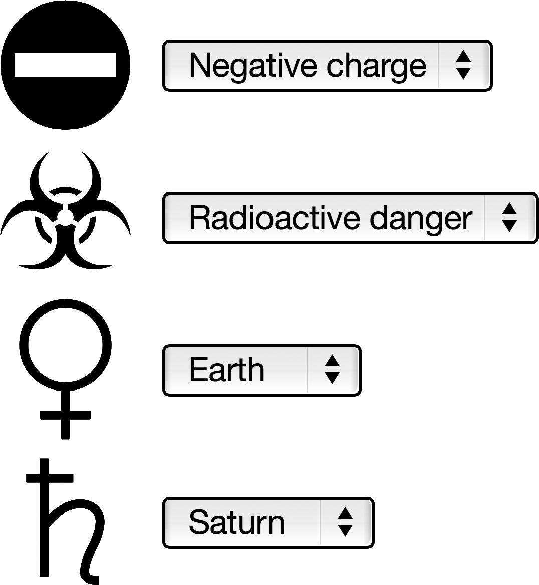 Screen Capture of the Unicode Symbol Quizz