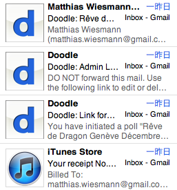 Screen Capture iTunes and Doodle Logo in Mail.app