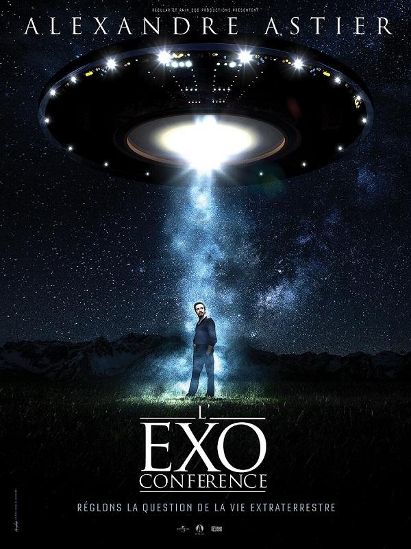Une soucoupe volante, Alexandre Astier dans un rayon de lumière