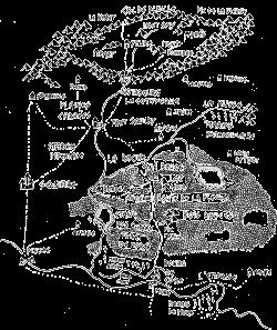 Carte de la région autours des Bois Rouges