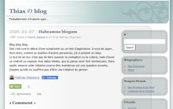 Habeamus BlogumBlog blog blog. Soit c'est le début d'une symphonie ou un test d'application, à vous de juger… Or donc, comme un bazillon d'autres personnes, j'ai à présent un blog. Le but de se truc n'est pas de faire avancer la civilisation ou la culture, mais d'avoir un endroit ou exposer mes idées idiotes, que je pense avoir fort nombreuses. Dans quelle mesure cette initiative pourra être maintenue est une question ouverte, j'espère qu'elle ne souffrira pas d'être une initiative de janvier.