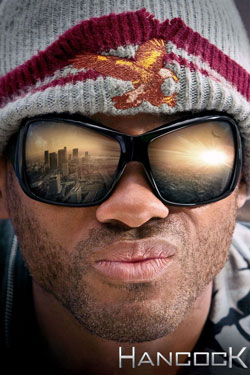 Will Smith's face with the reflection of Los Angeles in his sunglasses