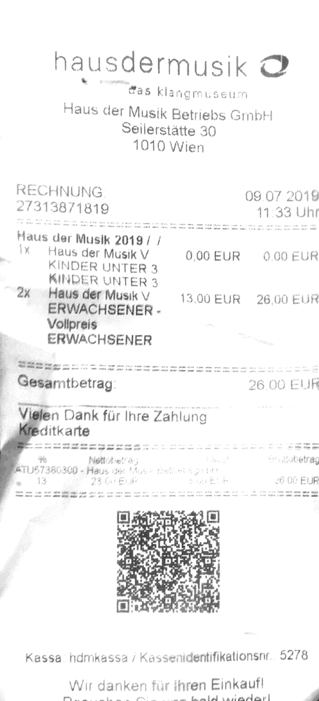 Austrian Bill with QR-Code