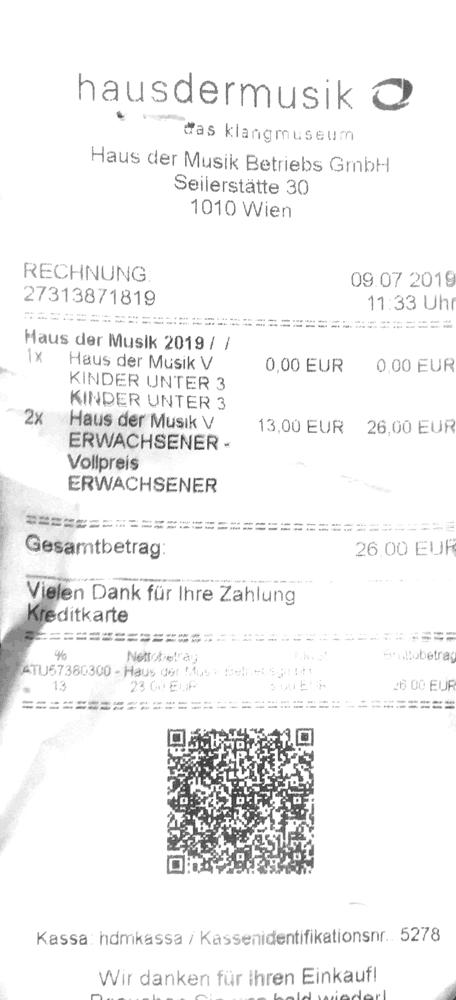Austrian Bill with QR-Code