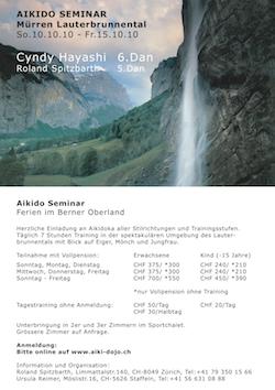 Aikido Seminar Mürren Lauterbrunnental Cyndy Hayashi&Roland Spitzbarth