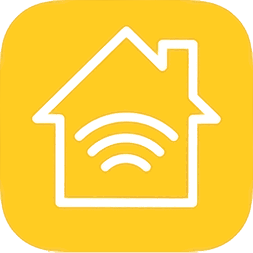 Homekit Icon – A house outline with a Wifi wave inside