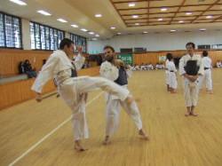 Tadeusz faisant un kick