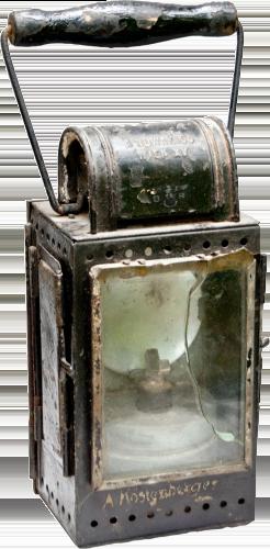 Une lanterne ferroviaire carrée