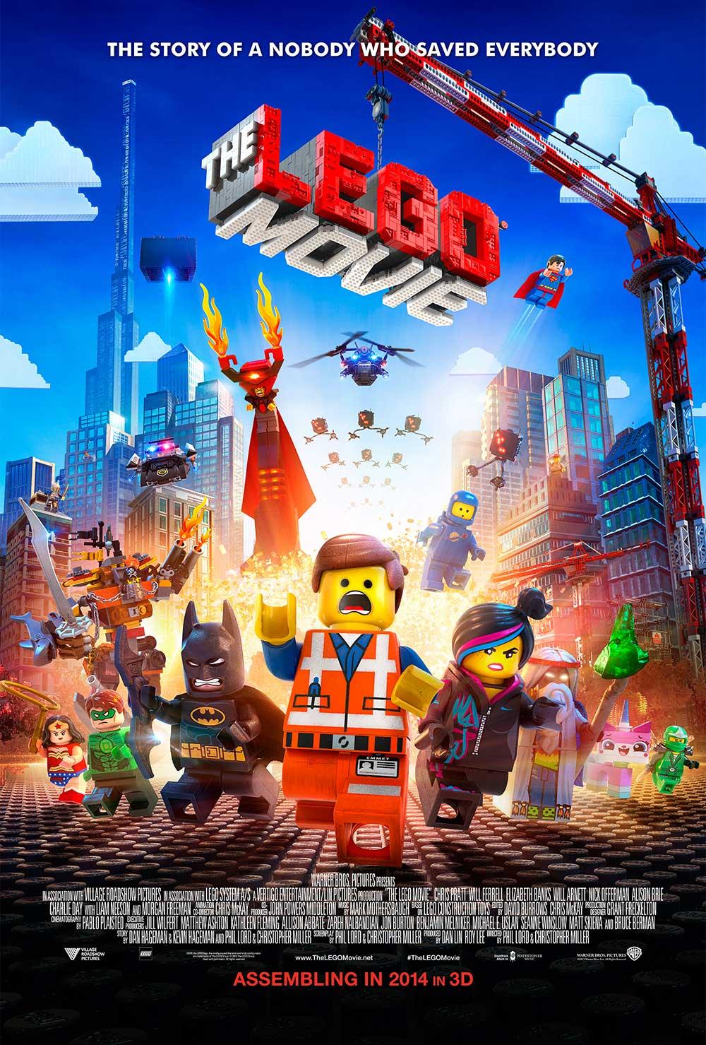 Lego Movie Poster – Hemmet running away from an explosion