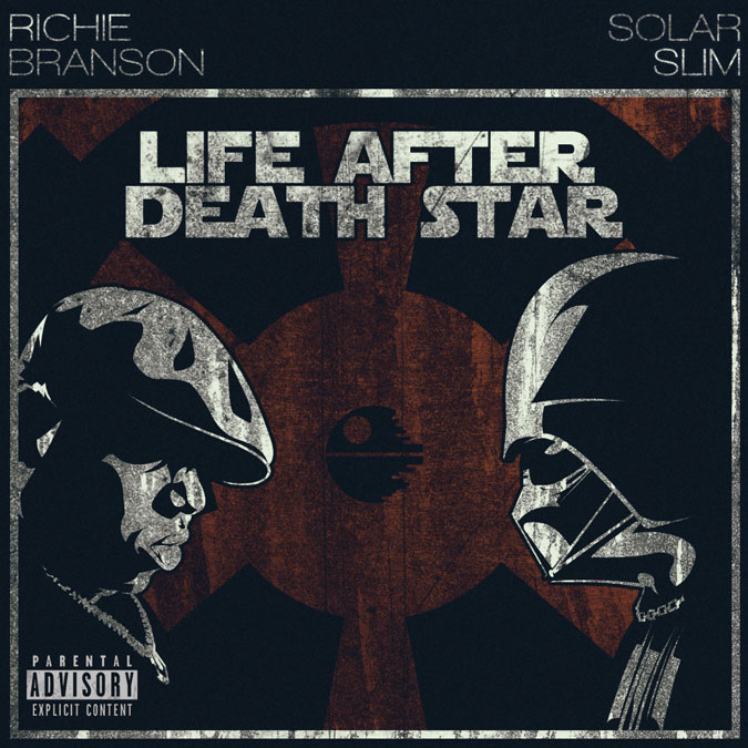 A rapper facing Darth Vader