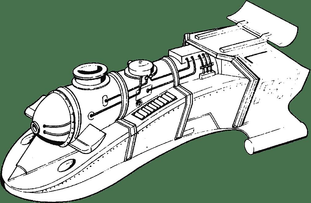 Schéma de la coque de remplacement de la locomotive alpha