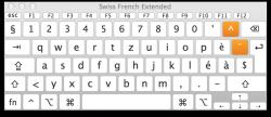 Swiss French Keyboard - Default Mode
