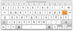 Swiss French Keyboard - Macron Mode