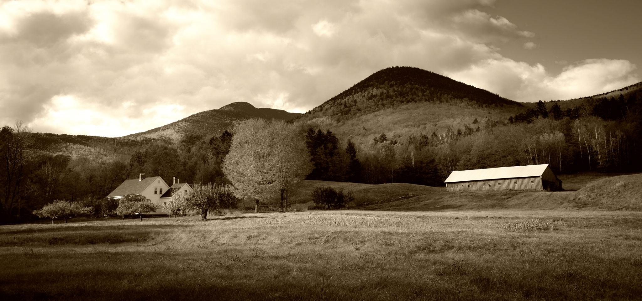 Une ferme dans la campagne américaine