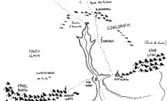 Carte du Mordor