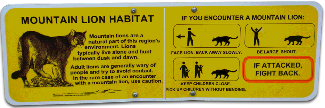Mountain Lion Warning…