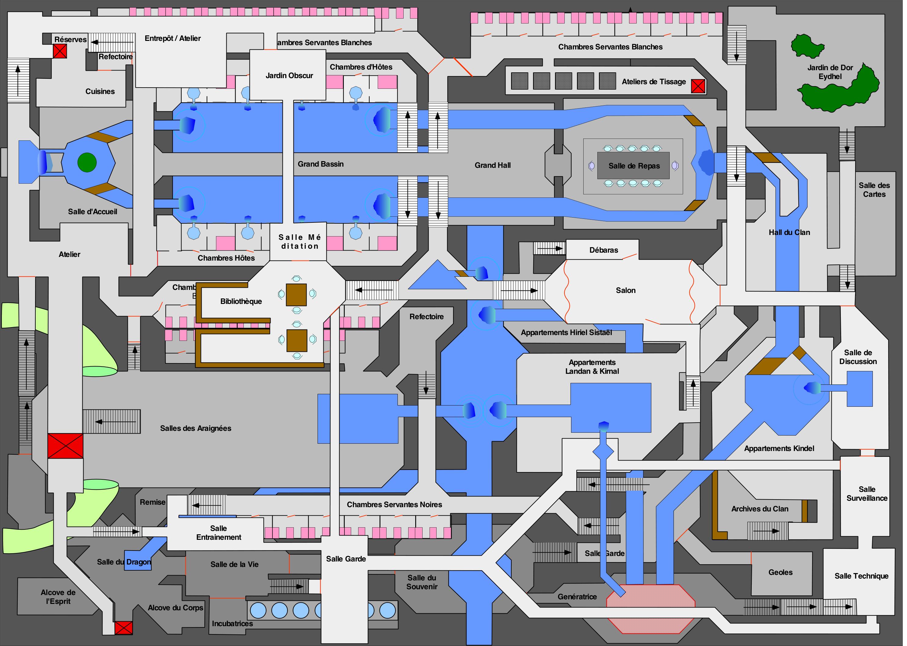 Plan d'un palais très compliqué